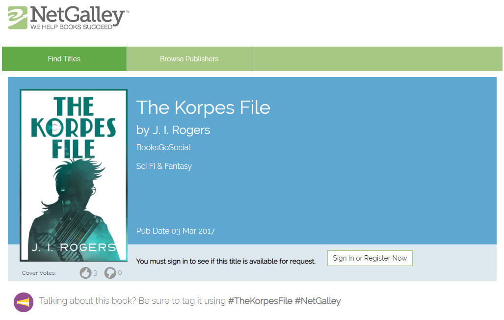 The Korpes File is currently available on NetGalley to read.